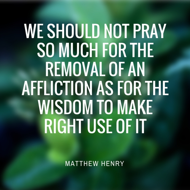 we should not pray so much for the removal